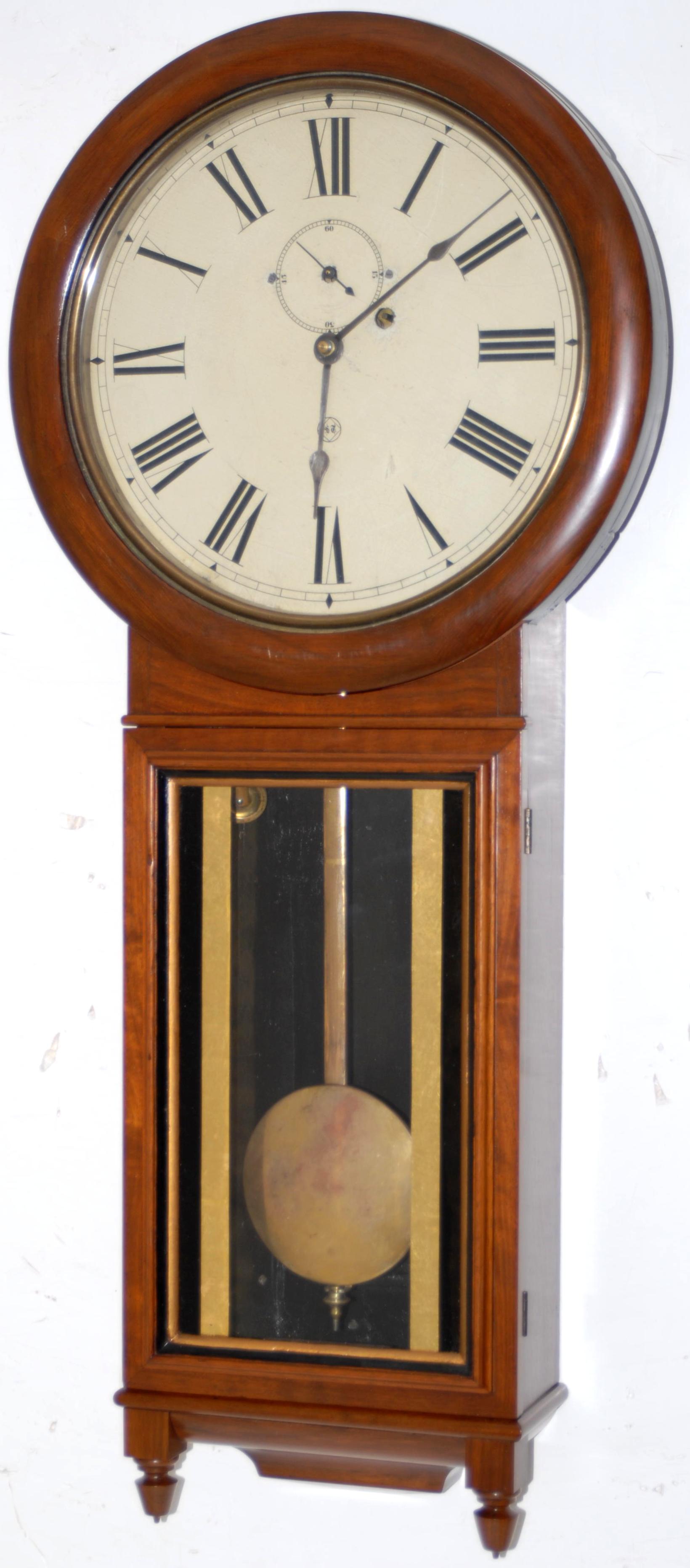 Weight driven pendulum wall clocks 12000 wall clocks clock has wooden framed movement weight driven pendulum wall005005 jpg amipublicfo Images